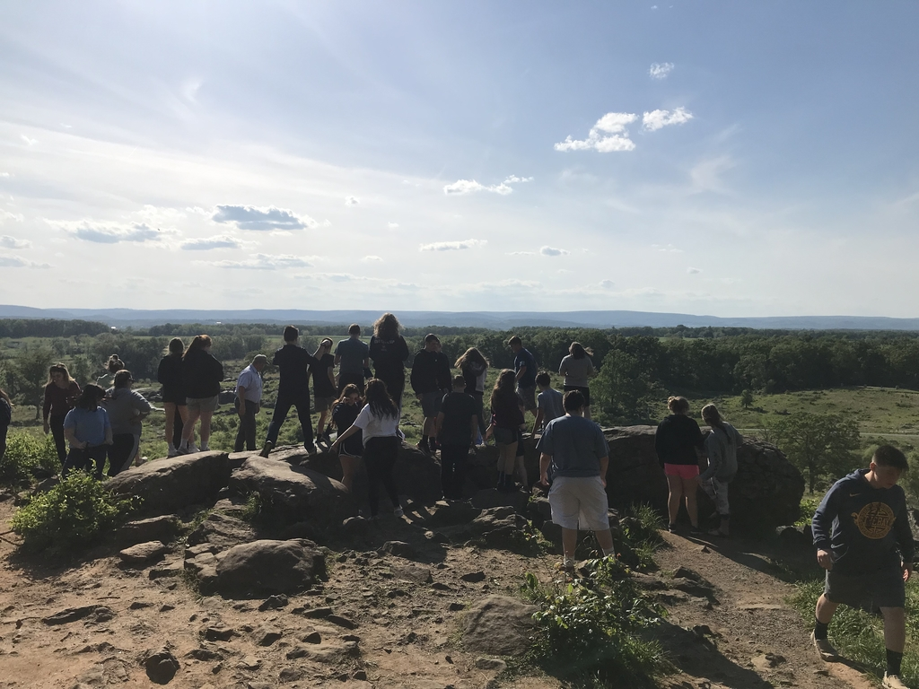 Checking out the views at Little Round Top.