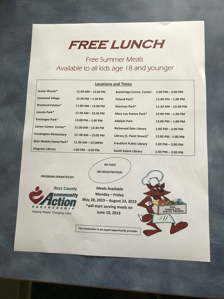 Free Lunch Notice