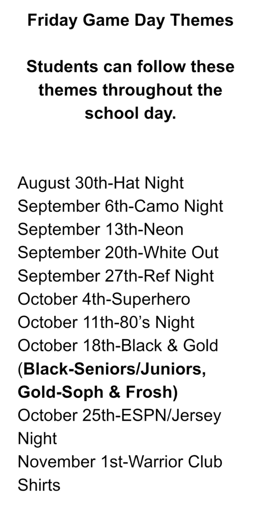 Warrior Club Themes